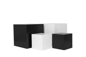 Black and White Plinths