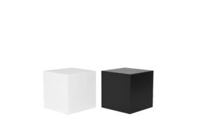 Black and White Plinths 50 x 50 x 50 $33