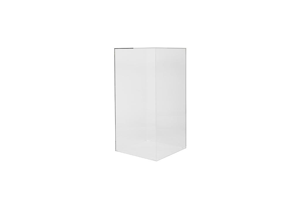 Clear Plinth 1m x 50 x 50