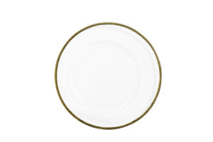 Gold Edged Glass Charger Plate $5.50