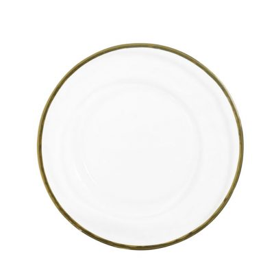 Gold Edged Glass Charger Plate