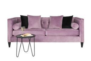Pink Lavender Velvet 3 Seater Couch $350 v3