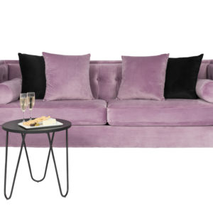 Monte Carlo Pink Lavender Velvet 3 seater couch