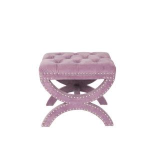 Monte Carlo Pink Lavender Velvet Ottoman