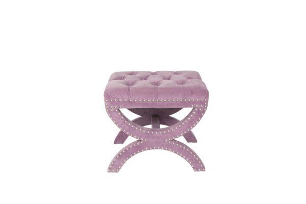 Pink Lavender Velvet Ottoman $45 v2