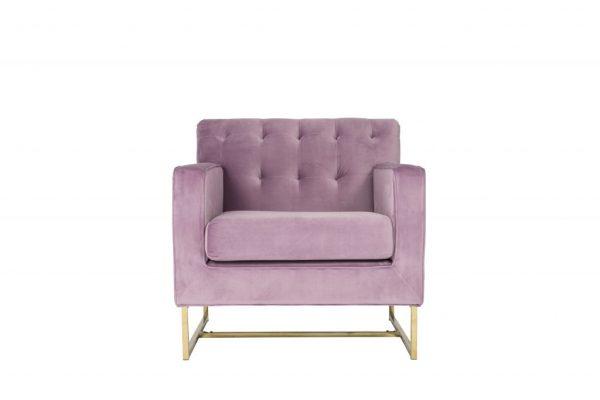 Pink Lavender and Gold Velvet Armchair $200 v2 (2)