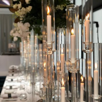 Glass Candle Tower