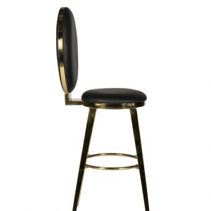 Black + Gold Milano Bar Stool