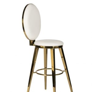 White + Gold Milano Bar Stool