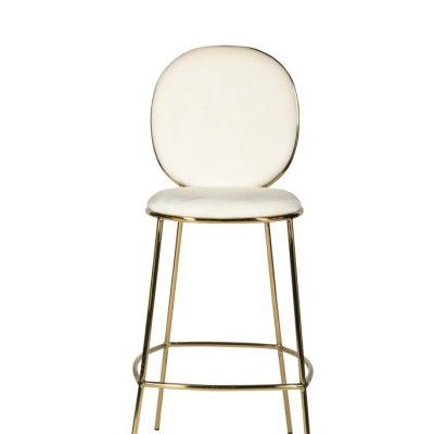 White Luxe Milano Bar Stool