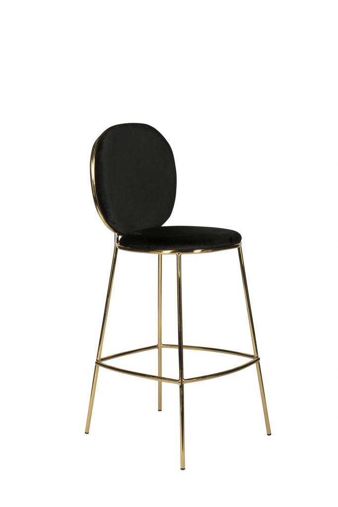 Awe Inspiring Black Luxe Milano Bar Stool Machost Co Dining Chair Design Ideas Machostcouk