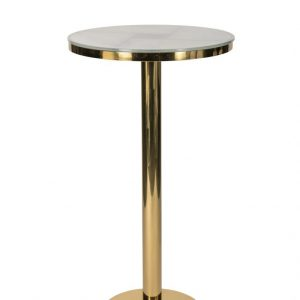 Milano Gold + Marble Cocktail Table