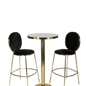 Black Luxe Milano Bar Stool