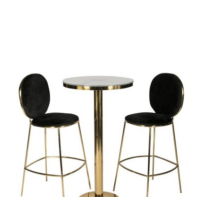 Milano Velvet Bar Stool Black
