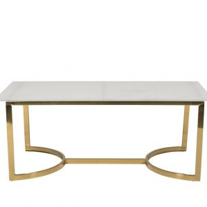 Milano Marble + Gold Coffee Table