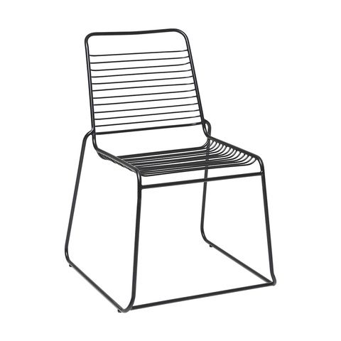 Dining Chair Black Wire